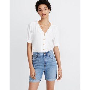 Madewell High-Rise Mid-Length Denim Shorts